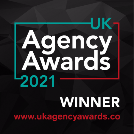 UK Agency Awards 2021 Badge - Evolved Search wins Best Independent Agency Awards for 2021