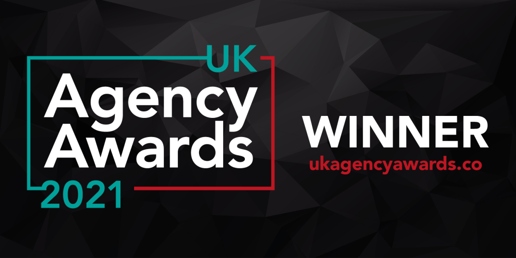 Evolved Search wins at the UK Agency Awards 2021 - Image shows award badge