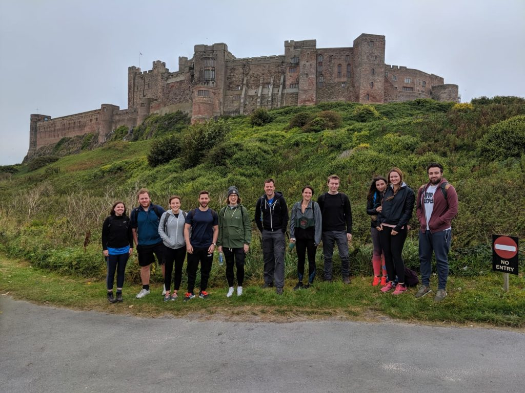 The Evolved Search team completed a marathon walk for two North East charities in 2019 - Picture shows team