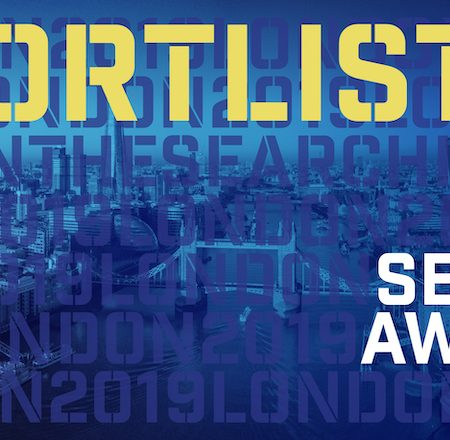 UK Search Awards 2019 shortlist badge - Evolved Search up for 13 awards!