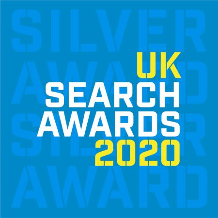 Evolved Search wins the Silver award for Best SEO Agency - Large - at the UK Search Awards 2020